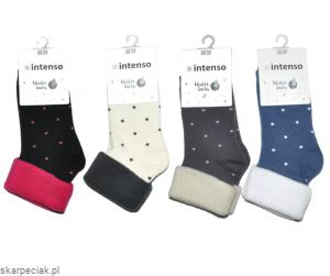 Skarpety frotte damskie  winter socks INTENSO